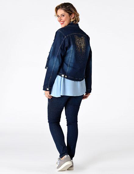 Yoek Plus Size Fashion Jeans Styles