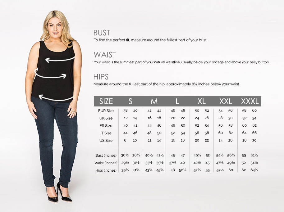 Size guide for plus size women