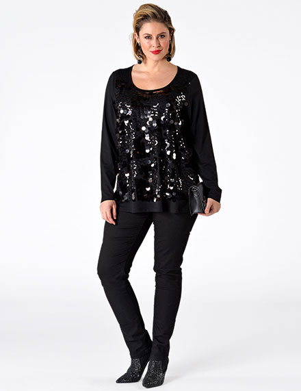 Clothing with Sequins for Plus Size Women